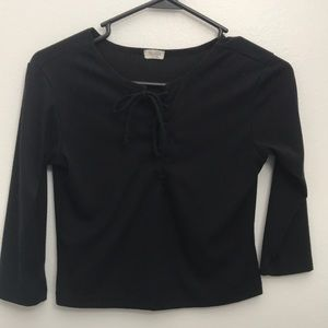 Brandy Melville black lace up long sleeve